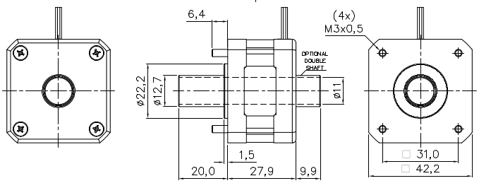 Hollow Shaft Stepper Motor Servodrive