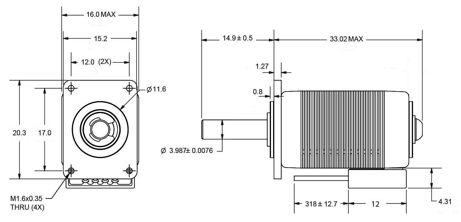 stepper motor sizes