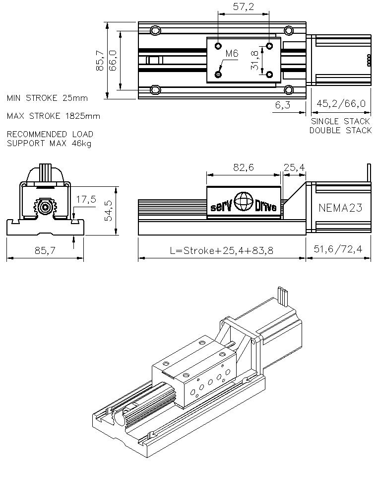 stepper motor linear axis linear stepper motor