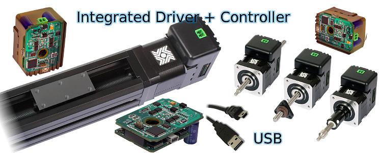 Programmable linear stepper motor drive servodrive for Stepper motor integrated controller